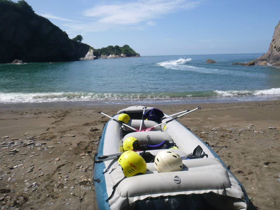 coastal rafting watermouth cove, family activities