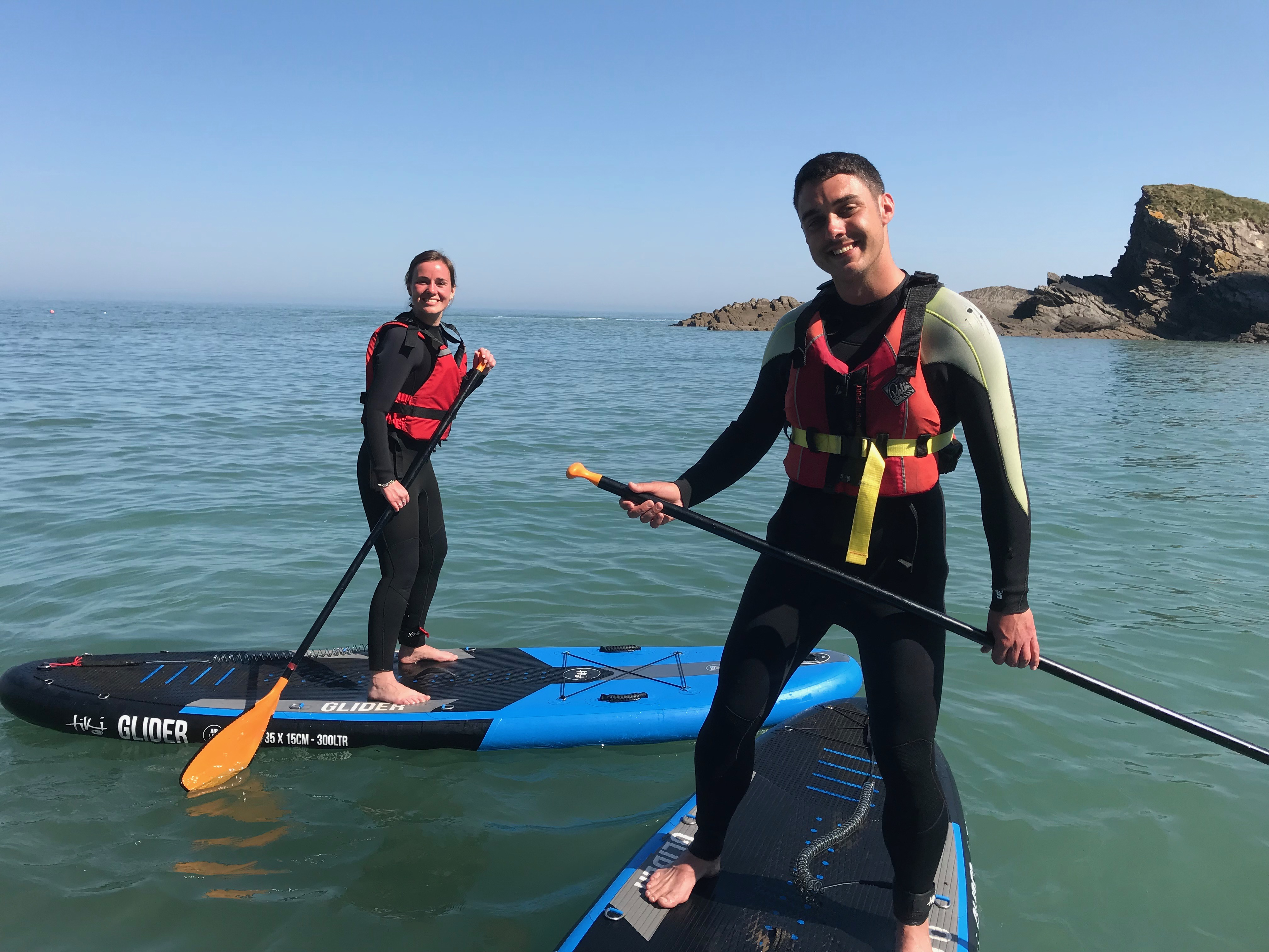 SUP, couple, things to do near me, North Devon, adventure sports