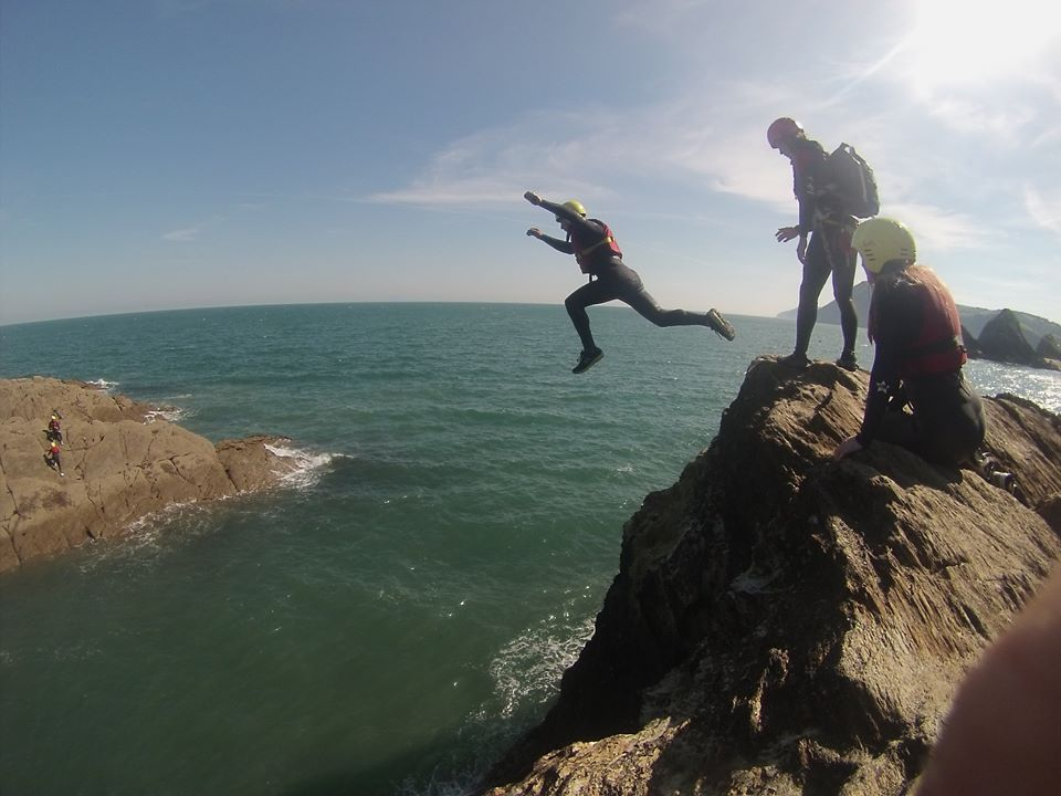 coasteering jump at Ilfracombe North Devon