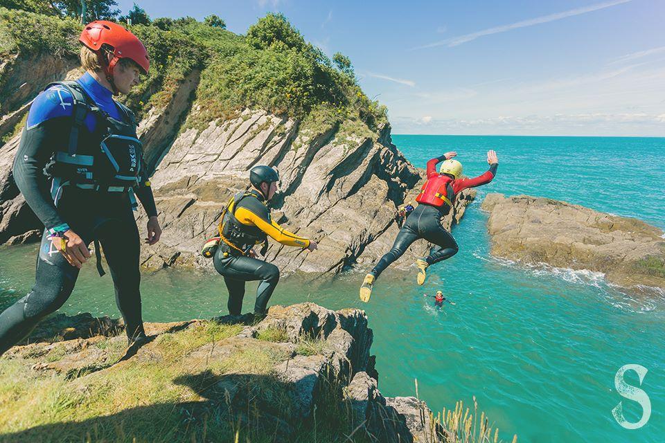 coasteering jump at Ilfracombe North Devon