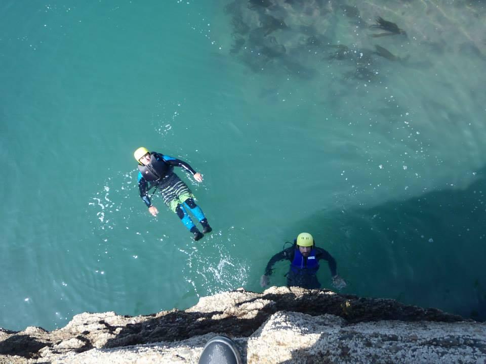 coasteering on exmoor