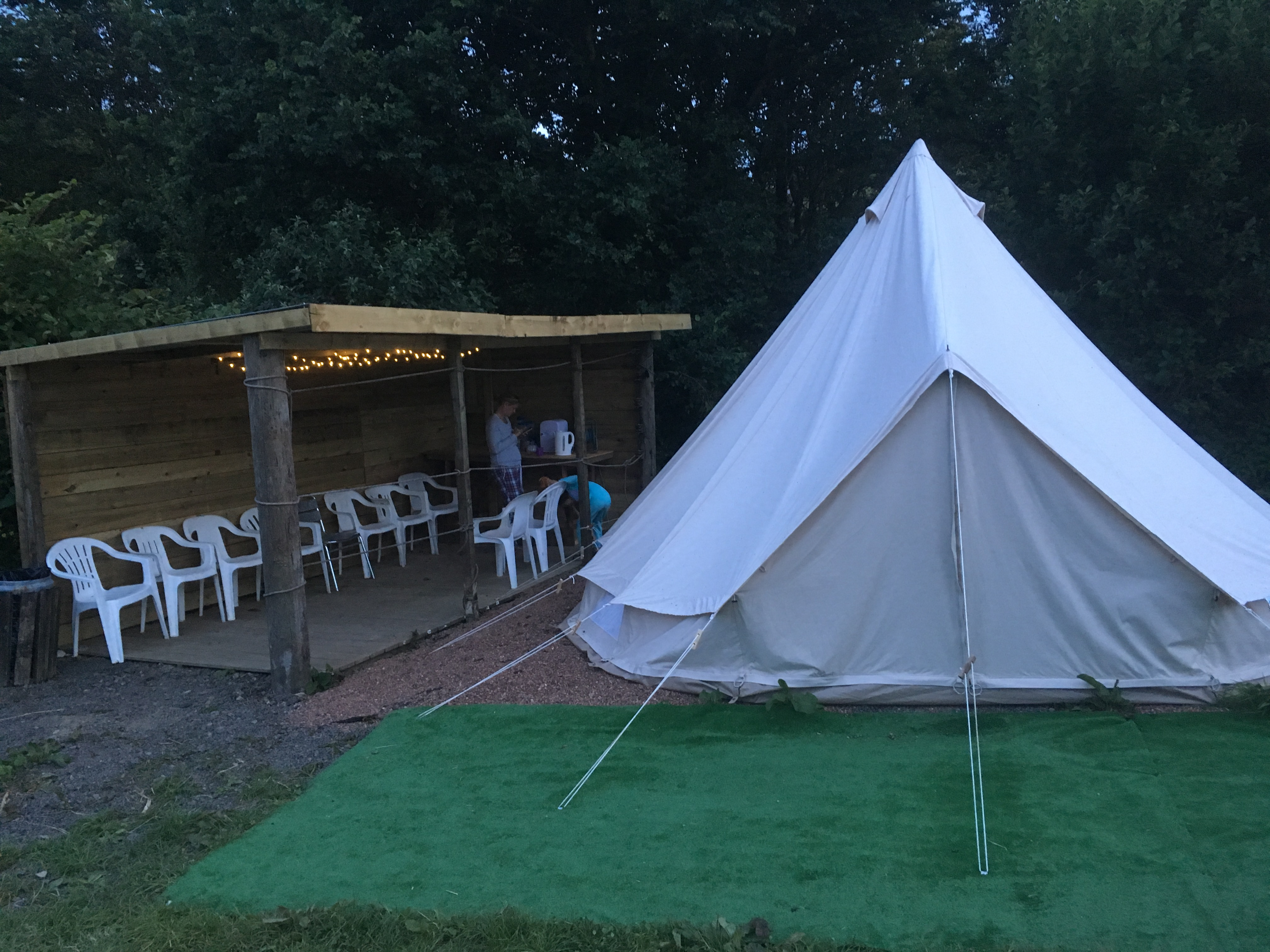 bell tent camping north devon