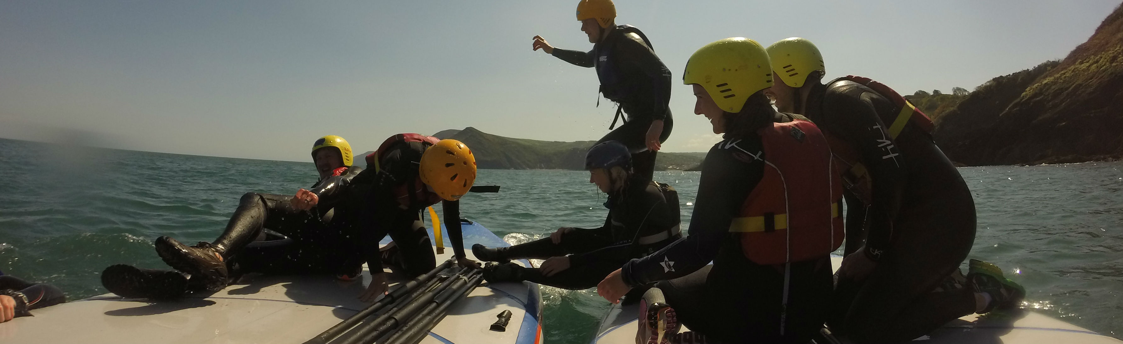 group stand up paddle board woolacombe
