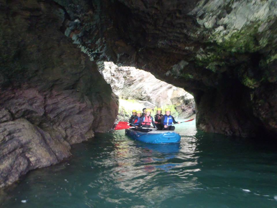 rafting devon, cave, explore, stag, hen do, family activities