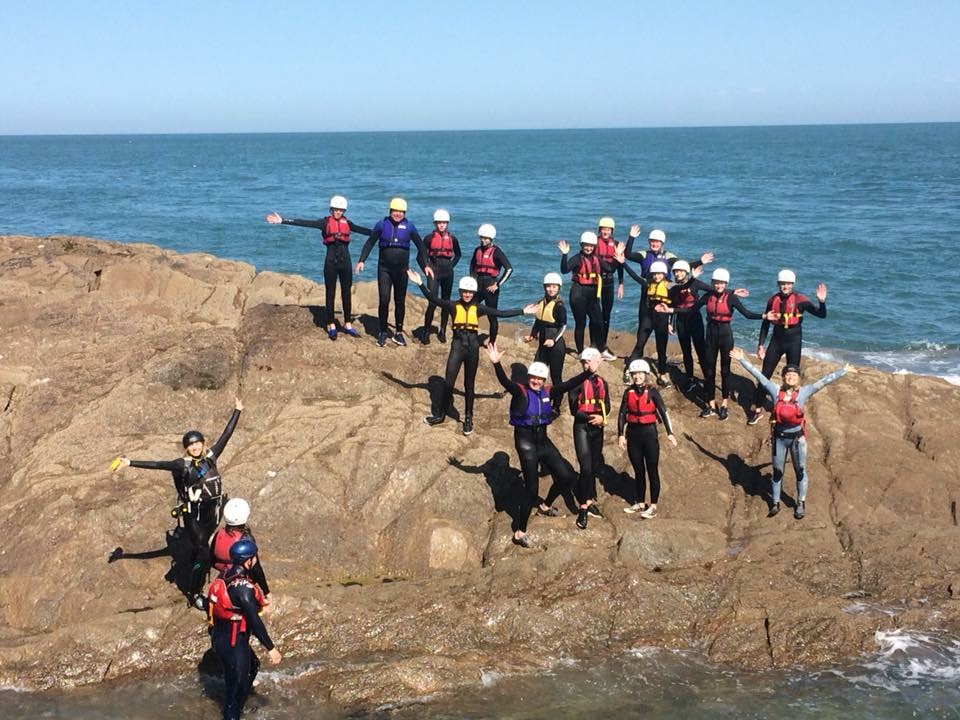 coasteering north devon, coasteer, watersports, group activity