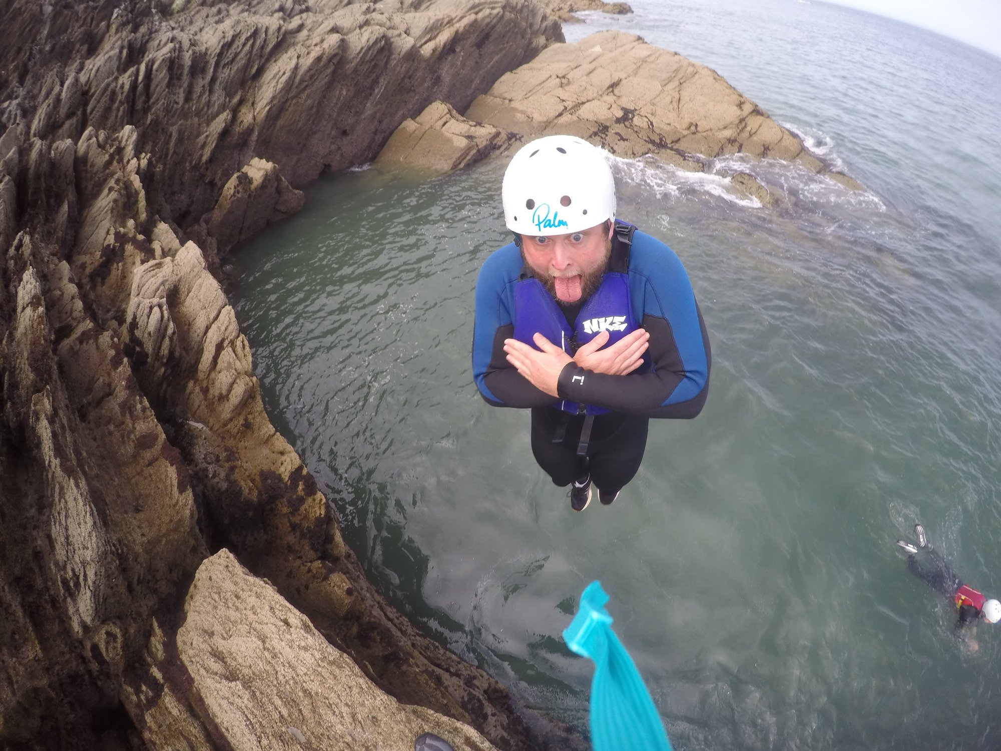 ilfracombe, things to do north devon, coasteering, rock jumping