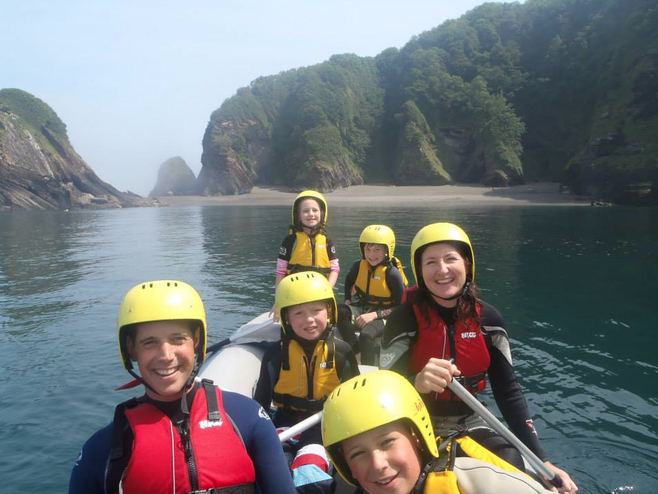 family raft north devon, watersports, ilfracombe, family activities