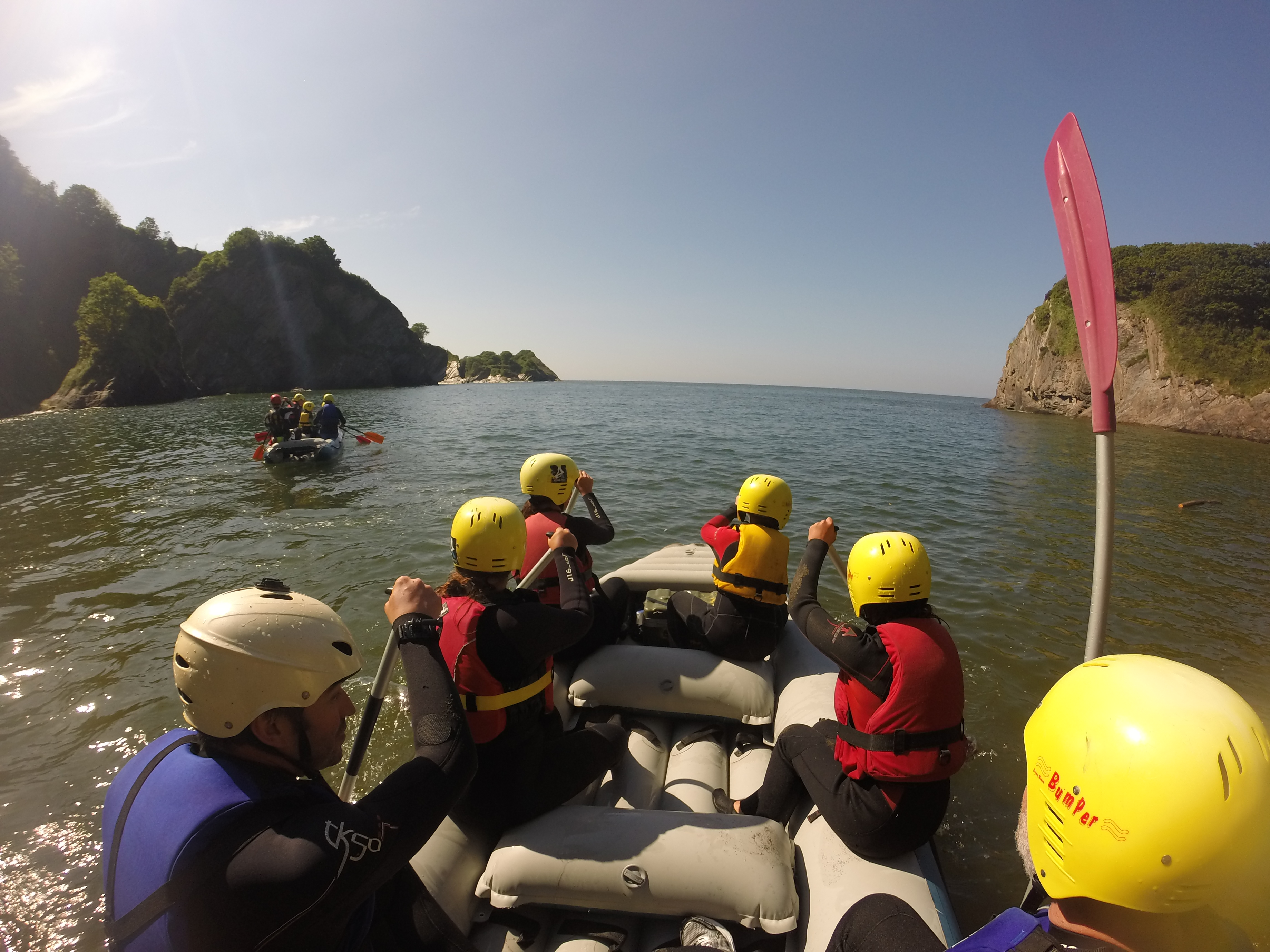 Group raft adventure north devon, family activities