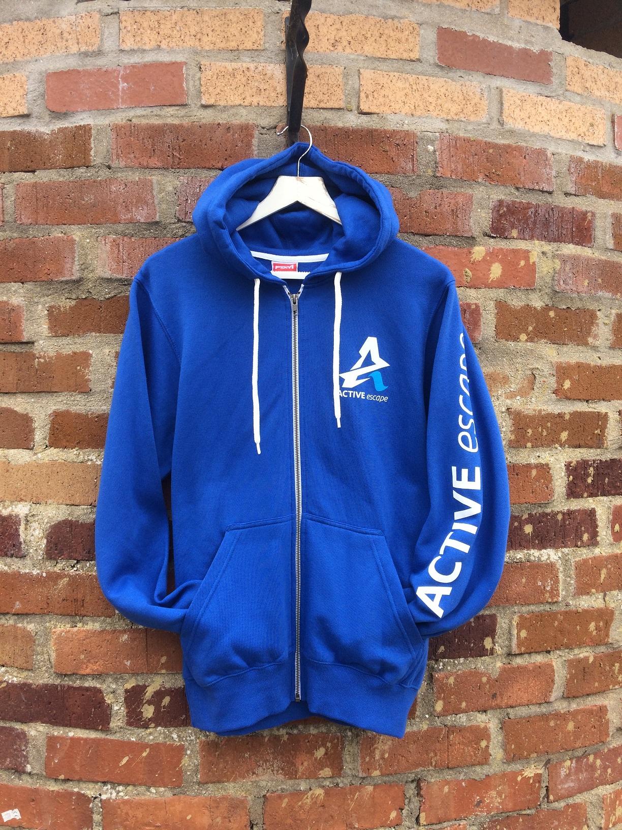 sky blue hoodie active escape