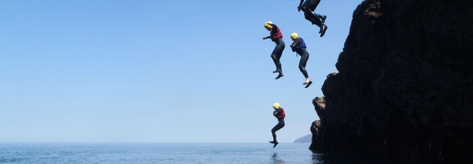 coasteering ilfracombe
