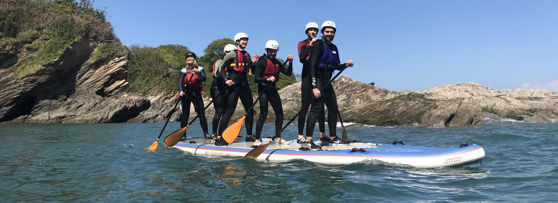 family stand up paddleboard, family holiday, family activities, friends holiday, paddleboard hire near me