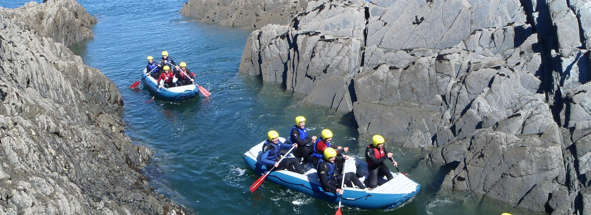 coastal rafting waterspouts centre ilfracombe north devon