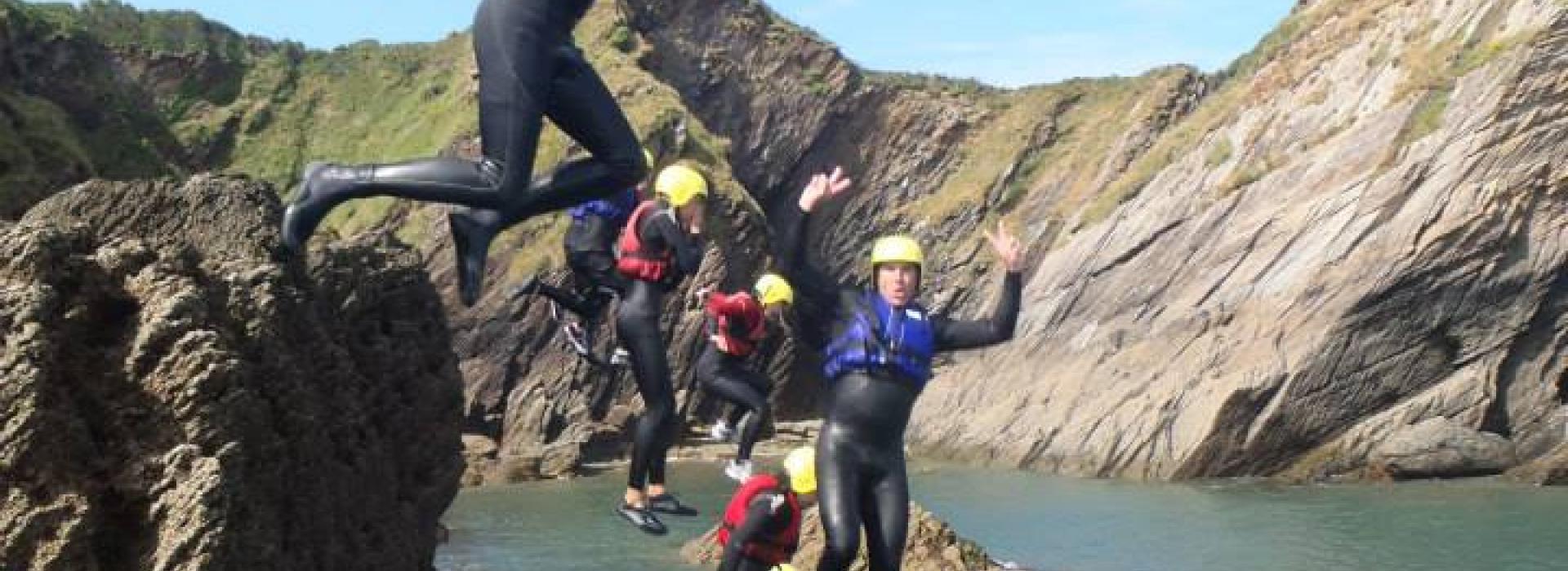 coasteering devon, coasteering north devon, things to do near me, watersports devon, activities, stag activities, adrenaline activities, private coasteering devon