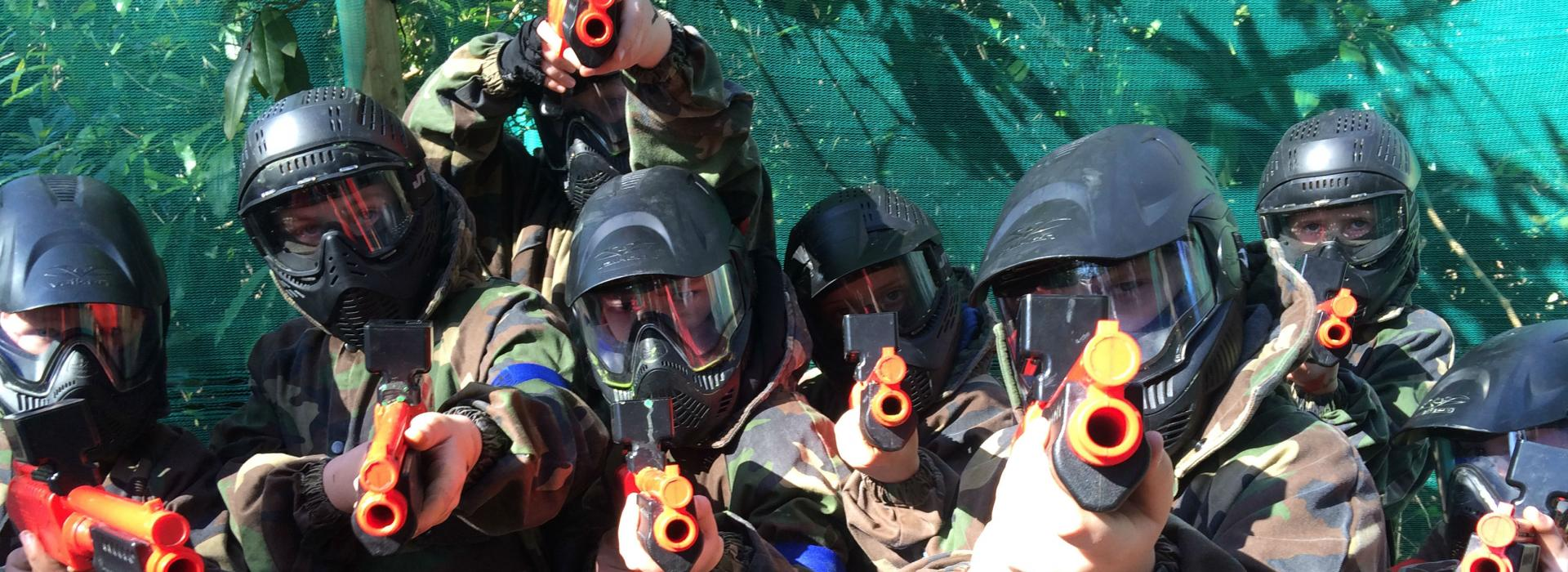 splatgun paintball north devon and somerset family activity