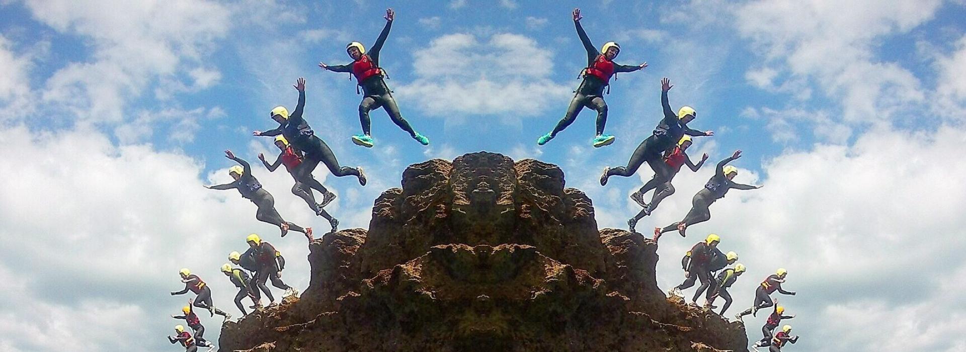 devon coasteering, watersports, adventure, jump