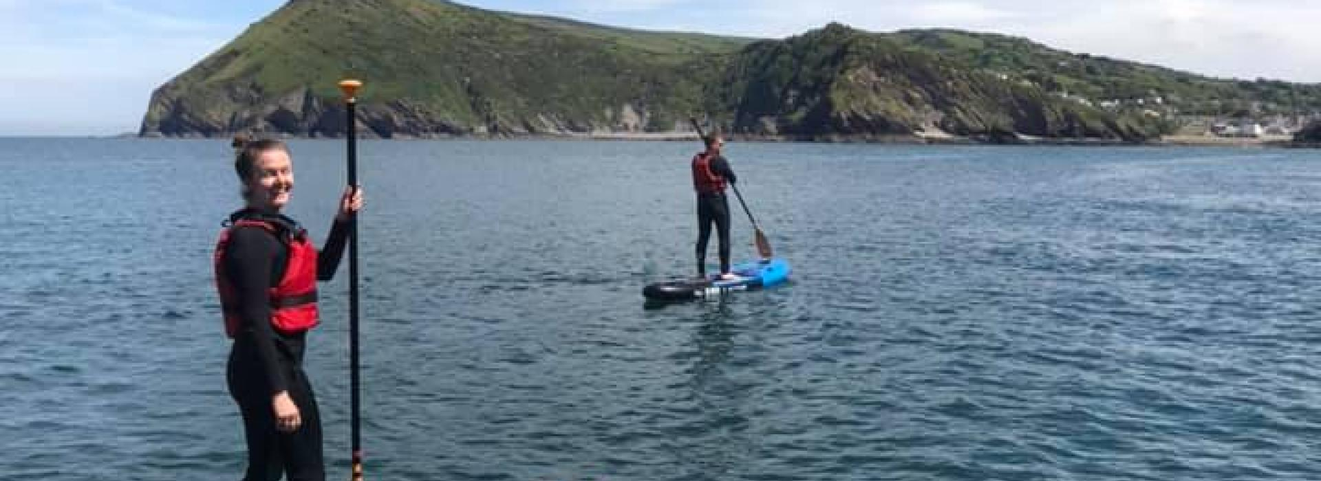 stand up paddleboarding, SUP, Watermouth Cove, North Devon, watersports
