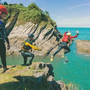 best coasteering in north devon