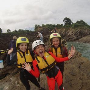 kids adventure day coasteering north devon
