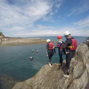 group fun, watersports, watermouth cove