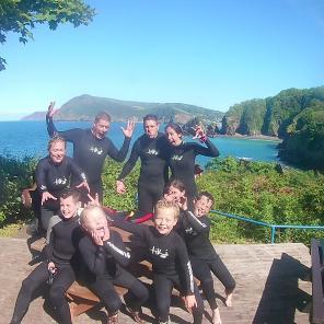 north devon, watermouth cove, sup, coasteer, surf