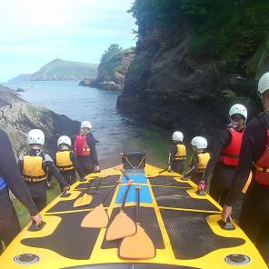 things to do devon, group activities, coasteer, watermouth cove, family activities