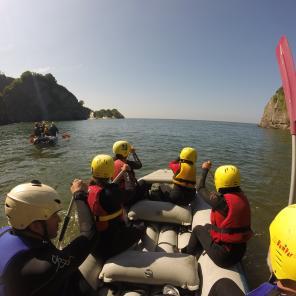 Group raft adventure north devon, family activities