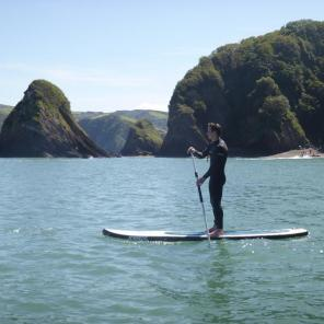 stand up paddle boarding cove ilfracombe, family activities