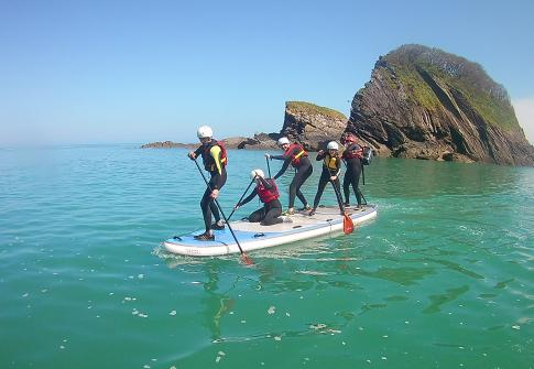 party sup, stand up paddle board, family sup, raft, north devon