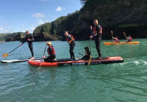 family holiday, paddleboarding near me, paddle boarding north devon, paddle board hire