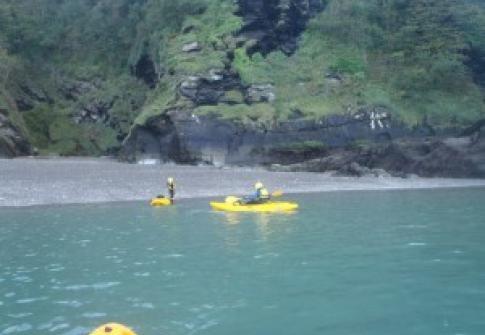 Kayak hire Ilfracombe Devon finding hidden coves