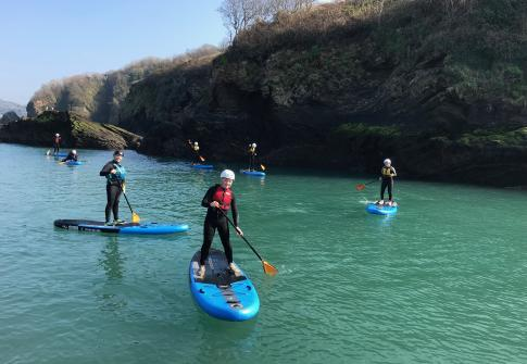 scouts, paddleboarding, coasteering, north devon, croyde, happy, explorers, scout camp