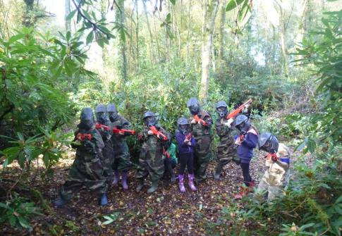 splatgun woods near Taunton Somerset