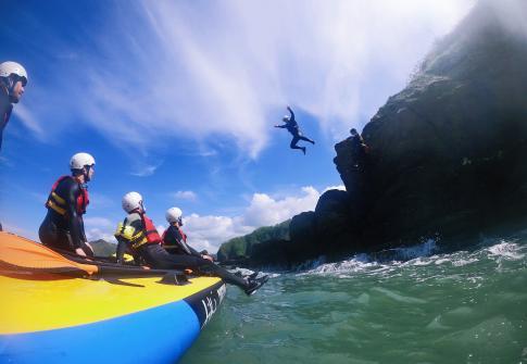 coasteering devon, mega sup, paddleboarding near me, adrenaline, activities in devon, things to do in devon