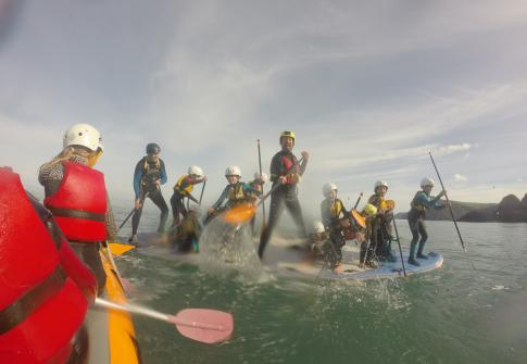 Party sup, stand up paddle board, north devon, family, friends, birthday, stag do, hen do