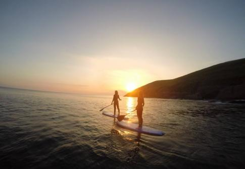 paddleboarding on the north devon coast