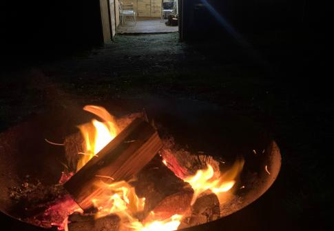 campfire, camping, school trip, residential, north devon, somerset